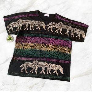 Vintage African Zebra Ethnic Animal Print Tshirt